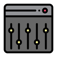 See more icon inspiration related to mixer, launchpad, ui, music and multimedia, music mixer, edit tools, sound mixer, multimedia option, electronics, options, equalizer, sound, multimedia, technology and music on Flaticon.