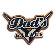 """Dad's Garage"" Vintage Tin Sign"