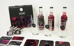 Tipsy on the Behance Network #branding #packaging #pink #alcohol #corporate #identity #raspberry