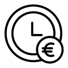 See more icon inspiration related to euro, hour, time and date, business and finance, time is money, business, money, time and clock on Flaticon.