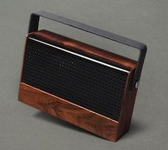 Kendall Portable Bluetooth Speaker #design #product #wood #industrial #auditory