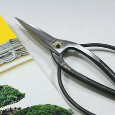 Trim your Bonsai tree with ultimate precision using the Bonsai Scissors. The ultra sharp blades are suitable for cutting leaves, small branches, and buds of medium to larger-sized Bonsai trees. You can comfortably access the narrow openings of your tree to easily cut the fine roots.