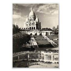Sacré Coeur vintage black and white Photo Print