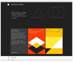 web, material design, website