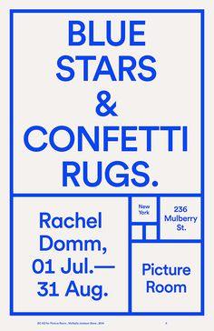 Blue Stars & Conferri Rugs #poster #print