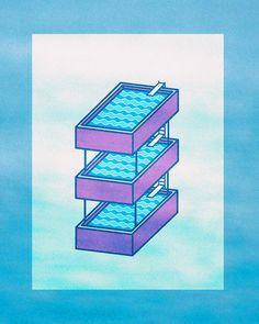 The triple decker ! #water #design #pool #strange #swimming #wavy