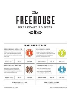 The Freehouse #the freehouse #menu #the art of the menu