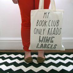 Book (Wine) Club Bag #sally #2011 #of #ex #foundation #joy #beerworth