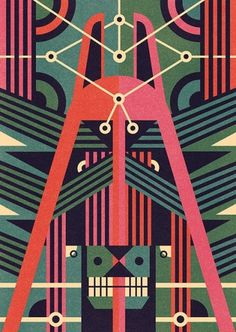 Masks illustration Series - Ben Newman Illustration #inspiration #illustration #design #graphic