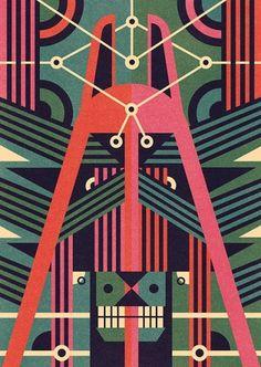 Masks illustration Series - Ben Newman Illustration