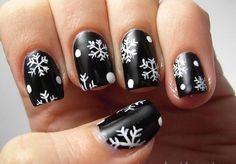 35 Snowflake Nail Art Ideas