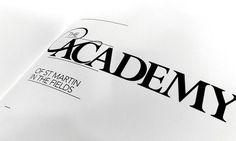 The Academy xe2x80x93 Glint Create #academy #typo