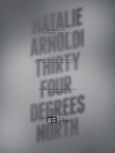 Natalie Arnoldi — Thirty Four Degrees North Kyle LaMar #poster #typography