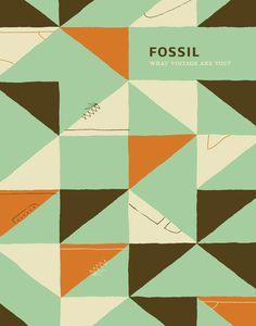 Fossil Footwear Poster #fossil #poster #footwear