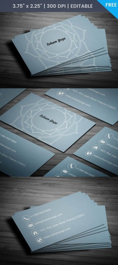 Free Lotus Business Card Template