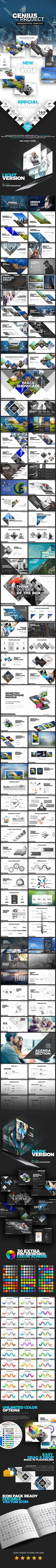 Genius Project Presentation Template - Business PowerPoint Templates
