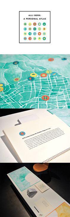 Atlas #watercolor #LosAngeles #icons #maps