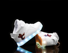 Kids Super Nova LED-Luminous Shoes white
