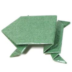 How to make an origami jumping frog (http://www.origami-make.org/howto-origami-frog.php)