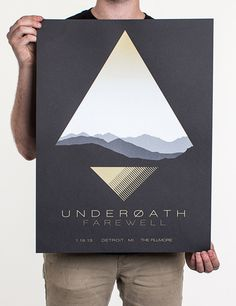 gradated fabrics for flag #underoath #jakub #alexander #poster #tour