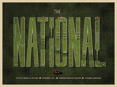 DKNG Studios » The National – Columbia, MD Poster #print #lettering #concert #poster