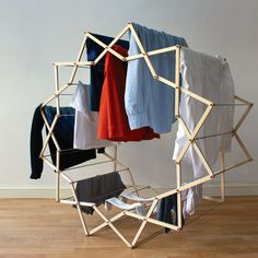 Star-shaped clothes horse by Aaron Dunkerton #horse #movable #star #clothes