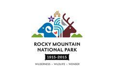 Rocky Mountain National Park Centennial Logo on Behance #illustration