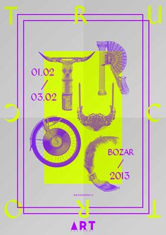 Art Truc Troc on Behance #graphic design #typography #poster #yellow