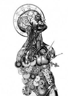 timenaut-1-520x735.jpg (JPEG Image, 520x735 pixels) #clock #illustration #steampunk #anatomy