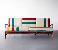 Image of Hudson Bay Sofa, Ib Kofod Larsen Frame #furniture #sofa