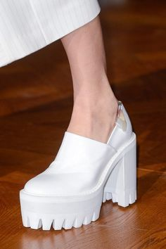 Stella McCartney Fall 2013. white creepers #boots #white #chunky