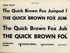 Tempo Heavy type specimen #type #specimen #typography