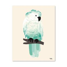 #nordic #design #graphic #illustration #danish #bright #simple #nordicliving #living #interior #kids #room #poster #cockatoo #bird #green
