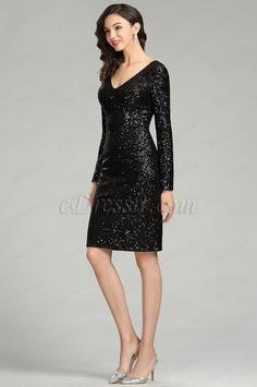 eDressit Black Sequins Night Party Cocktail Dress (04180700)