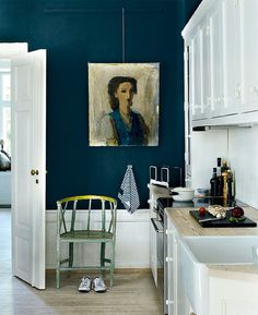 CREATIVE LIVING from a Scandinavian Perspective: How to pick a color for your wall #interior #design #kitchen #deco #blue #decoration