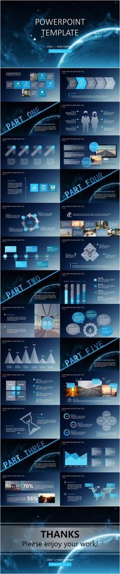 【IOS半透明扁平风格多用模板PPT模板】-PPTSTORE