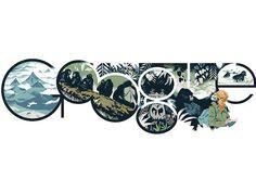 Dian Fossey Google Doodle Explained by Illustrator Mike Dutton #google #doodle