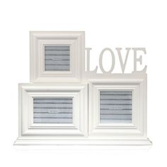 Multi Pic 'Love' Collage Photo Frame, 49cm x 41cm, Set of 3