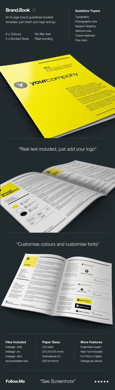 Brand.Book #mockup #print #layout #brochure