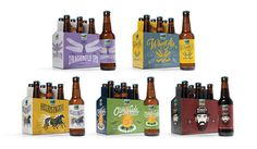 Young & Laramore Upland Brewing Co #brewery #beer #packaging #upland #craft #brewing #company