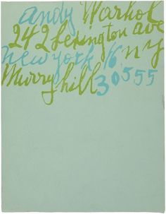plenty of colour #handwriting #andy #warhol #letterhead