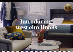 west elm Hotels, by Heco