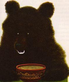 Lutiy bear by Feodor Rojankovsky #bear #illustration