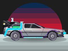#illustration #DeLorean #Backtothefuture