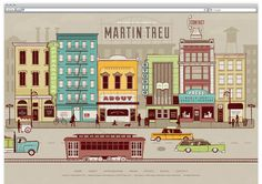 Martin Treu #treu #city #reifsnyder #website #illustration #cars #scotty #martin