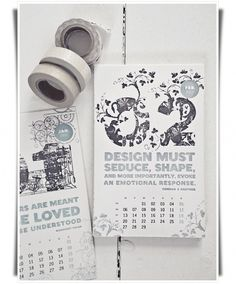 Graphic-ExchanGE - a selection of graphic projects #hannah #calendar #letterpess #lemholt