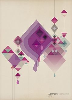 Abstract illustrations on the Behance Network #jdstyle #illustration #posters