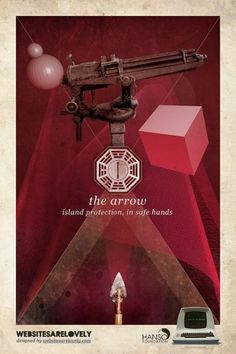 The Arrow | Flickr: Intercambio de fotos #movie #design #graphic #initiative #dharma #vintage #poster #collage #tv #lost