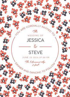 Morning Flowers - Wedding Invitations #wedding #invitation #weddinginvitaion #weddinginspiration #design #print #paper