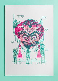 Rituals Malade Pathetics x Eirian Chapman #illustration #overprint #exhibit #screen #print